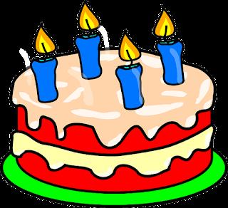 Resultado de imagen de tarta con 4 velas