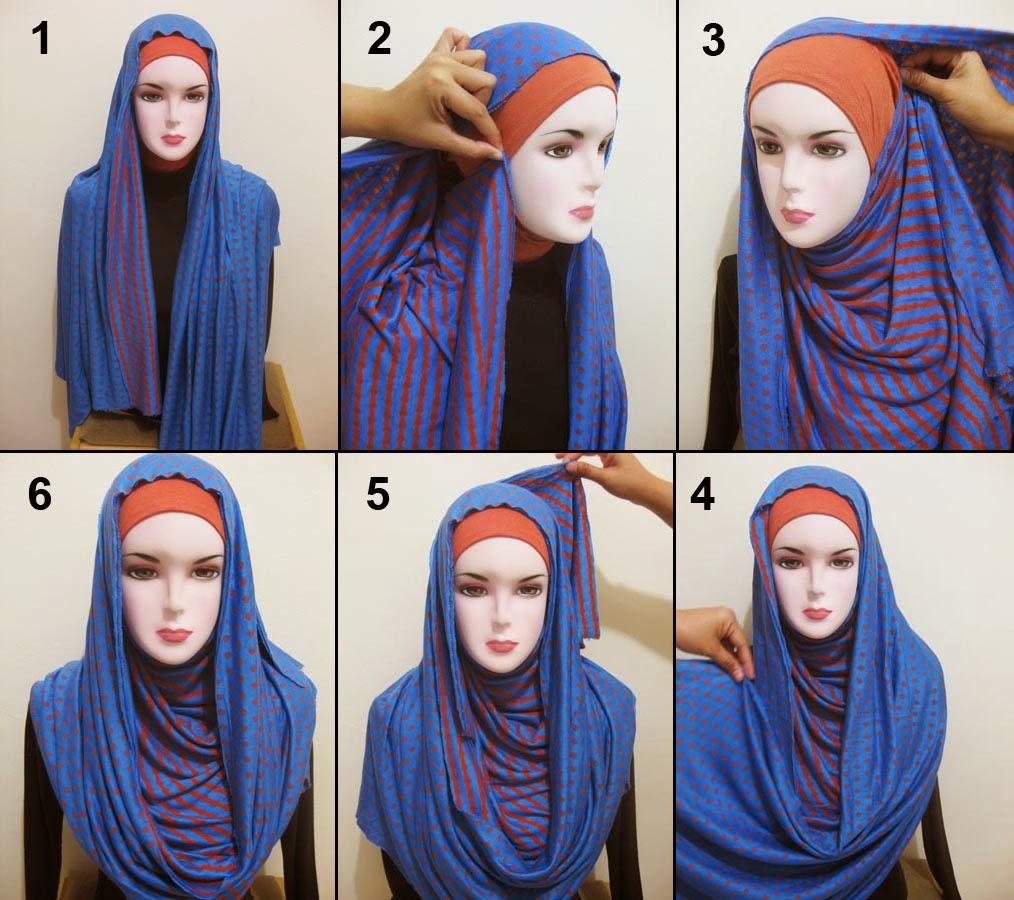 30+ gambar menarik tutorial hijab masa kini untuk kalian| tutorial