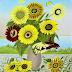 Sonnenblumenstrauss und Sommerblumenstrauss