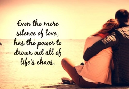 Whatsapp status message 2016 Even the mere silence of love has the powers to