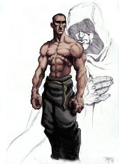 Ele poderia ser um monge inimigo ou algo similar.