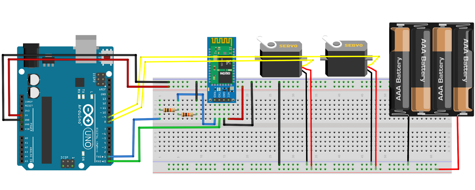 Arduino Pan Tilt Servo Motor Control Via Bluetooth Using Android App Pic Circuit Schematic Diagram
