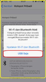 cara iphone di jadikan modem