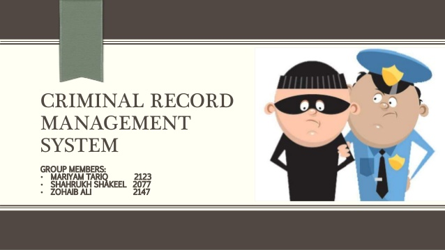 Criminal Records management System