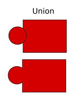 Menggabungkan object dengan union