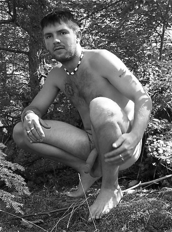 Nude guys outdoor