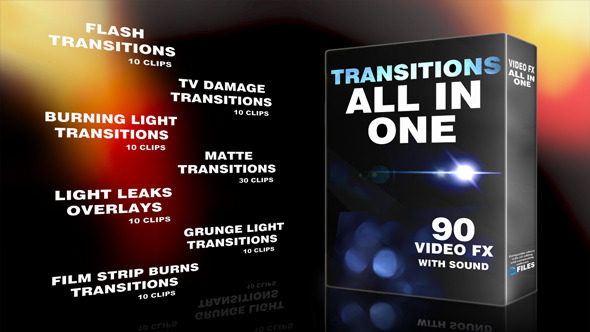 المجموعة الكاملة لأفضل واروع انتقالات فيديو مع اصواتها لجميع برامج المونتاج والتصميم