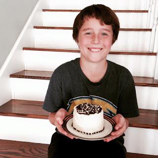 Mini White Chocolate Birthday Cake