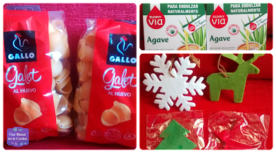 Galets de Gallo, Sirope de Agave muy rico para endulzar, decoraciones navideñas en colgante e imán
