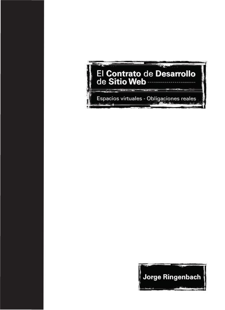 El contrato de desarrollo de sitio web – Jorge Ringenbach
