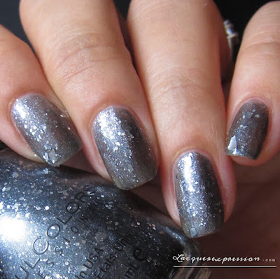 nail polish swatch of Silver Sliver by SinfulColors