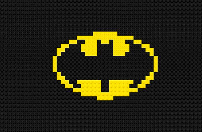 Logotipo Batman usando LEGO