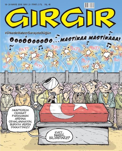 Gırgır Dergisi - 18-24 Mayıs 2016 Kapak Karikatürü