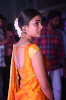 Shalini Pandey in Beautiful Orange Saree Sleeveless Blouse Choli ~  Exclusive Celebrities Galleries 021.JPG