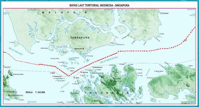 Batas teritorial Indonesia dalam gambar peta Indonesia Lengkap