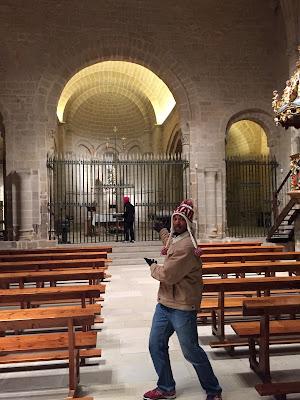 Inside Santa María de Ujué