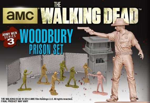 The Walking Dead PVC Army Men Series 3: Sheriff Rick Grimes & Woodbury Prison Set by Gentle Giant