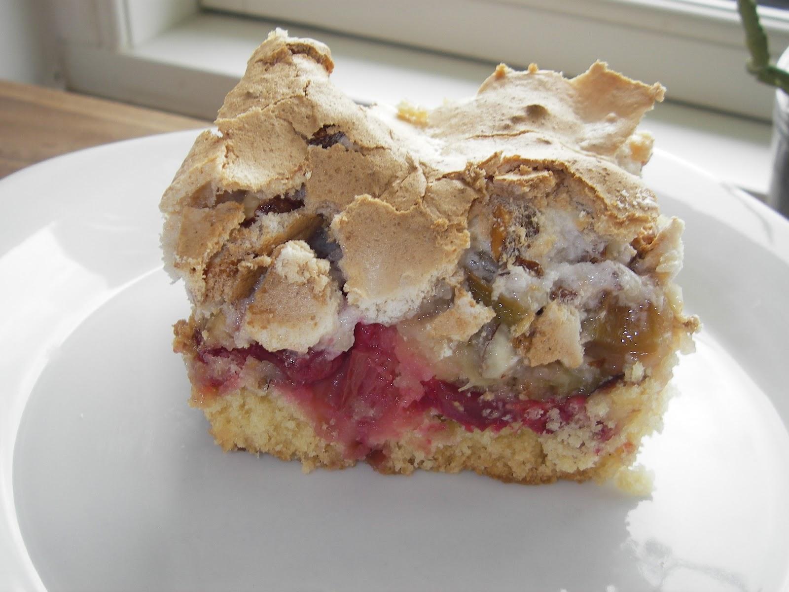 Glutenfrie fristelser: Rabarberkage med marengslåg, glutenfri