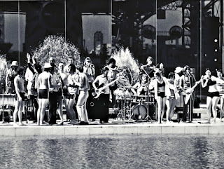 1970 - Expo '70 Photo with the Canadian Pavillion Hosts; band front row from left Louie Yacknin, Skip Prokop, Ralph Cole; back row from left Keith Jollimore,