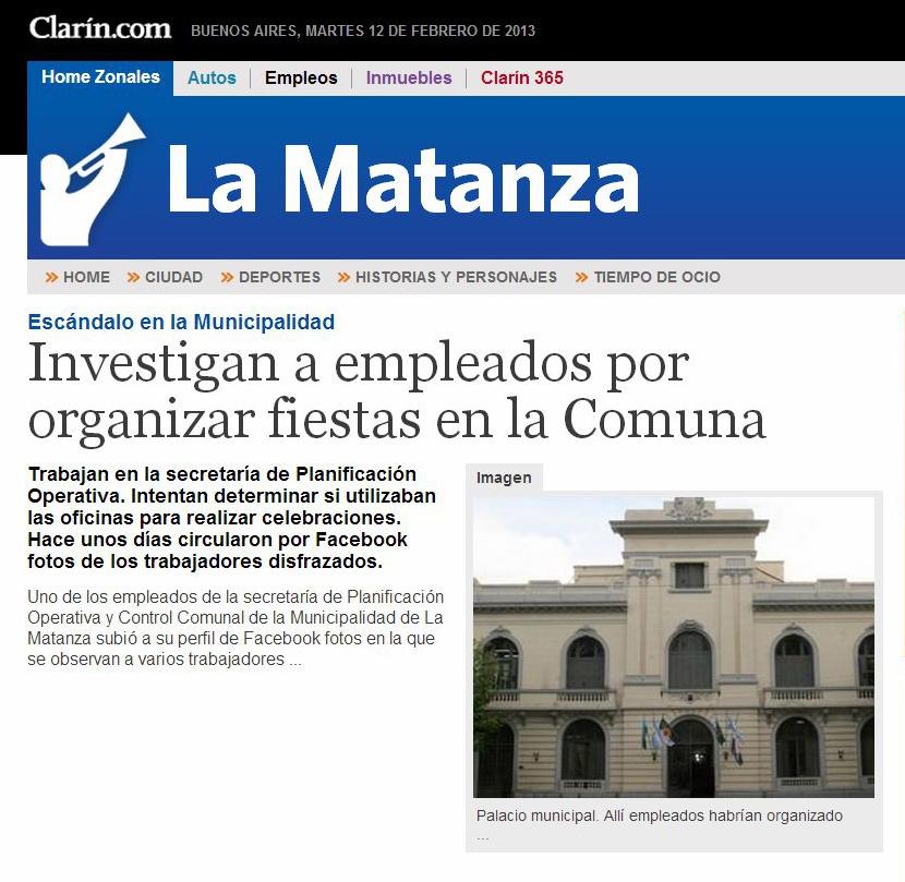 Ramos mej a trucha la matanza clar n esc ndalo en la for Municipalidad la matanza