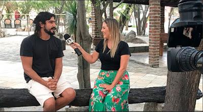 Abiane Souza entrevista Renato Góes, que interpreta Jesus - Divulgação TV Aparecida