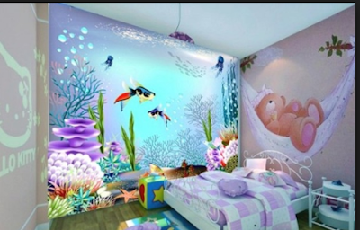 Desain Motif Wallpaper Kamar Tidur Anak Terbaik 2018 6