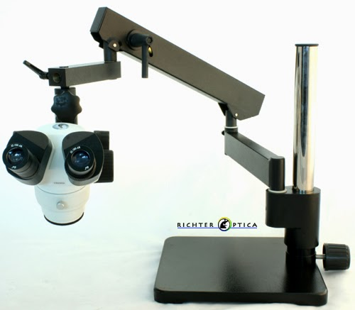 articulated arm stereo microscope