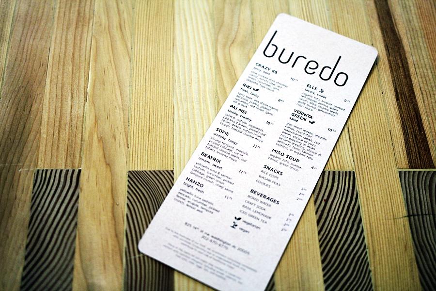 buredo menu