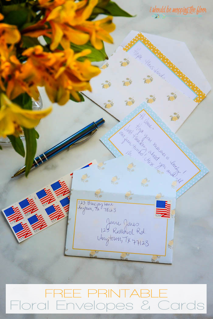 Printable 3x5 Envelopes and Cards