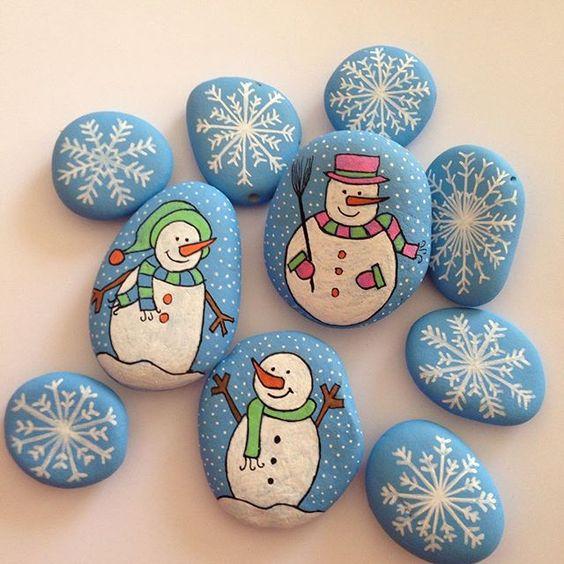 14 ideas para hacer adornos navide os con piedras de r o - Ideas para hacer adornos navidenos ...