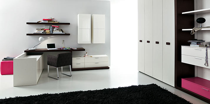 Mobilier moderne simples chambre ado design interieur france - Chambre moderne ado ...