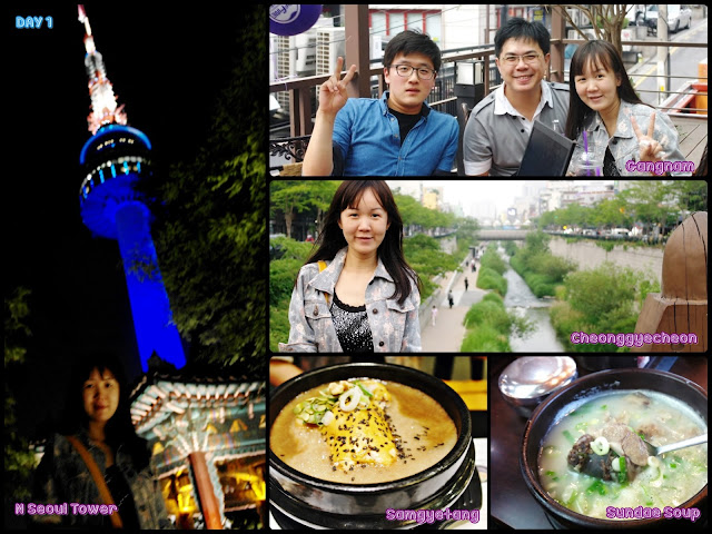 Seoul (Cheonggyecheon, Gangnam, N Seoul Tower, Myeongdong).