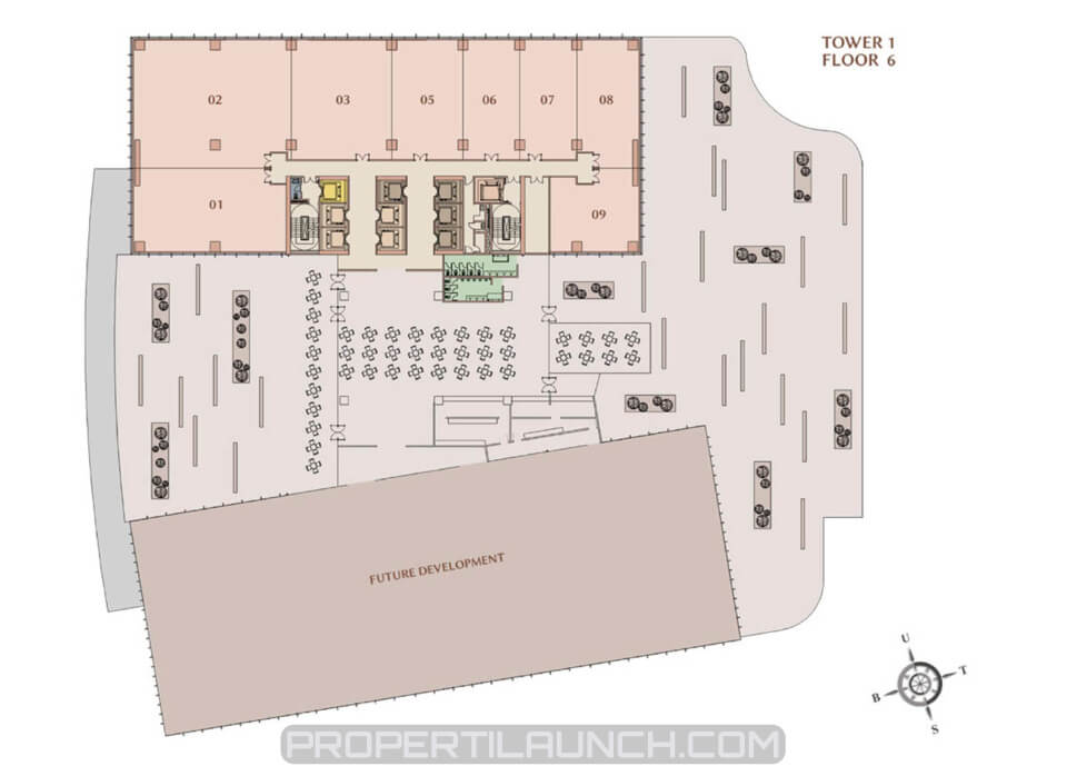 Floor plan M-Town Office tower 1