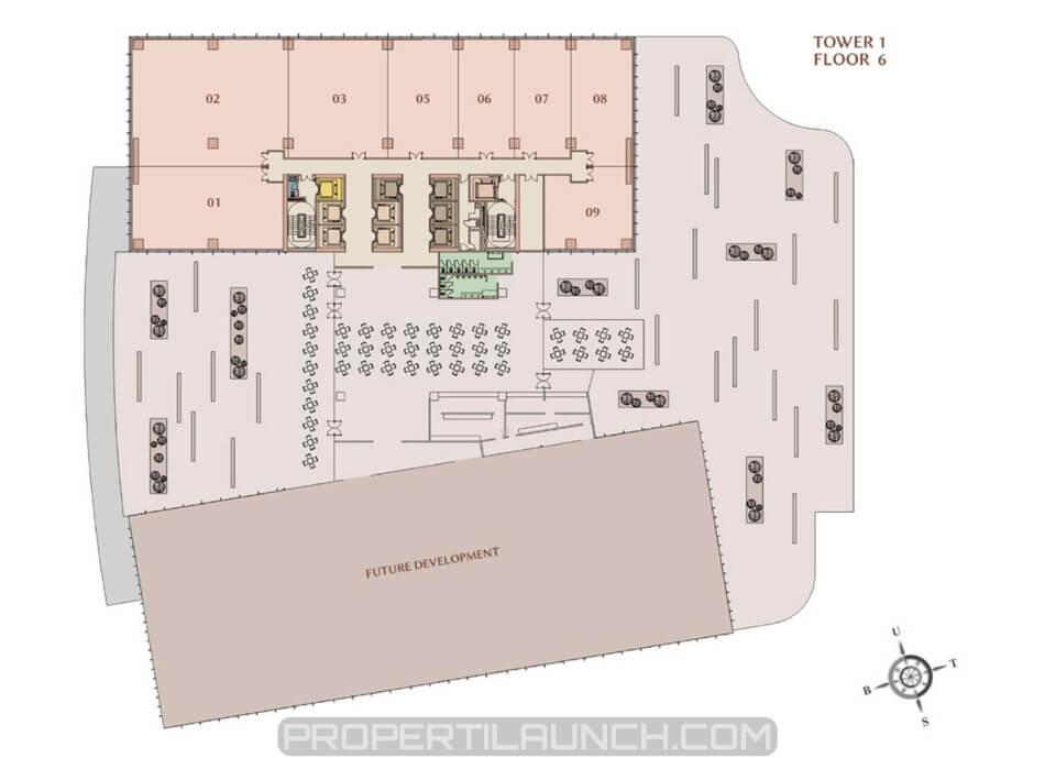 Floor plan M-Town Office tower 1