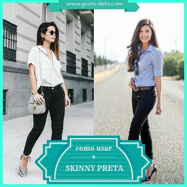 Como usar calça skinny preta