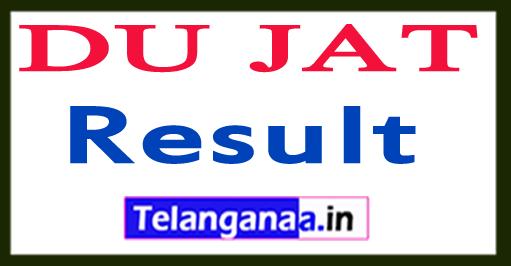 DU JAT Result 2018 Delhi University BMS/BBA(FIA)/BA Hons Merit List Download