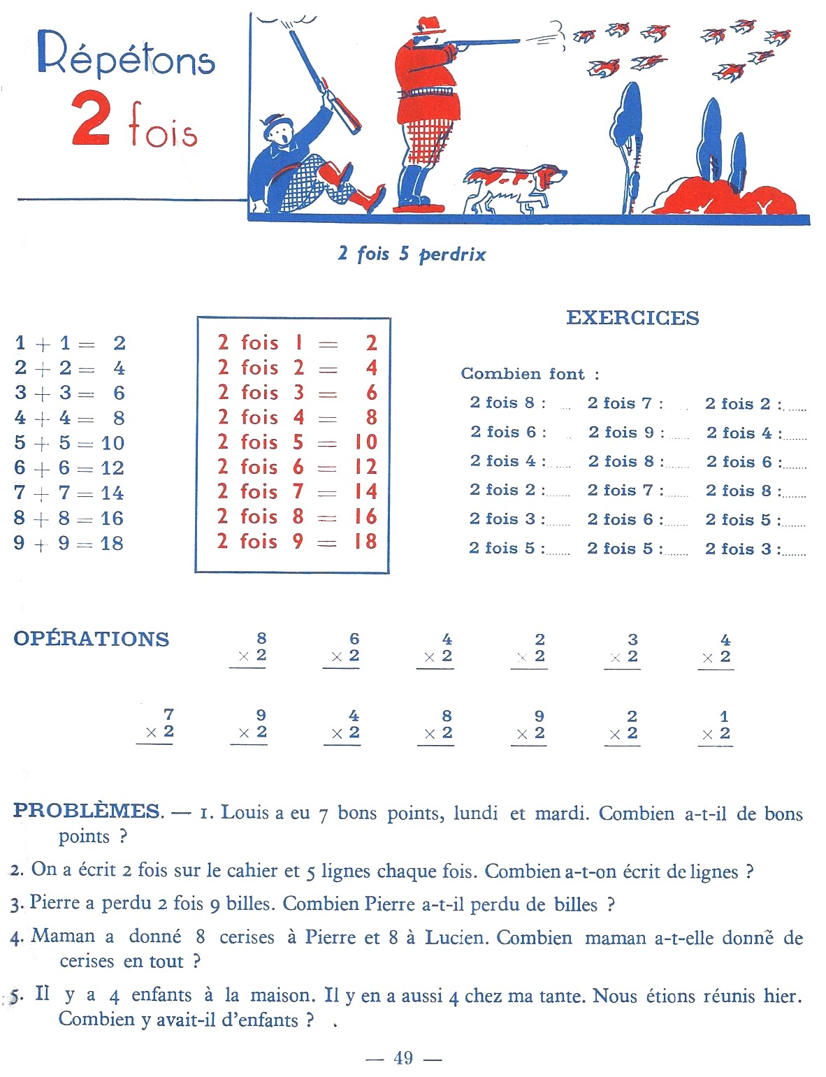 Manuels anciens les tables de multiplication for Table de multiplication exercice