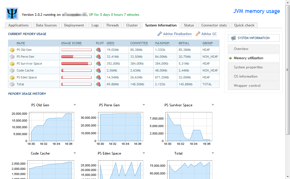 Client-side server monitoring with Jolokia and JMX