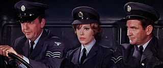 David Tomlinson, Jill St. John and Rod Taylor in RAF uniforms