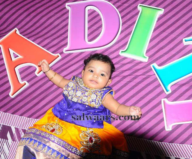 Opulent Baby in our Lehenga