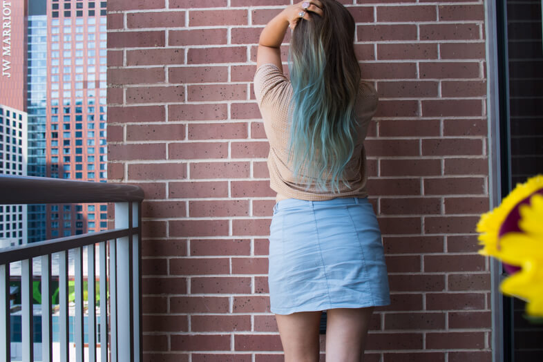 Blue haired girl