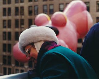 Mom at Macy's Thanksgiving Day Parade, 1992