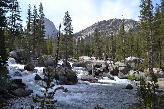 water rampaging through the rocks