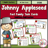 Johnny Appleseed Math Centers for Fact Families