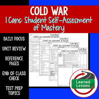 American History I Cans, Student Self-Assessment of Mastery, Cold War