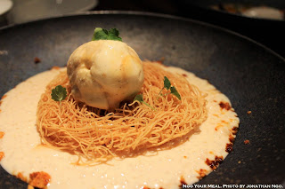Crispy Seviyan, Rice Pudding, Coconut Jaggery Ice Cream at Indian Accent
