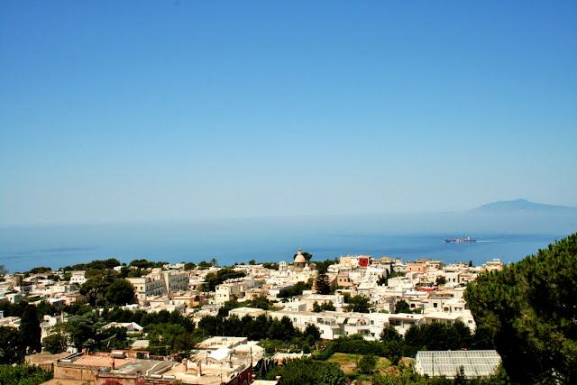 belvedere Anacapri, mare, acqua, case, vegetazione, isola