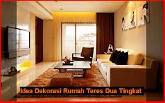 Dekorasi Rumah Teres Satu Tingkat Desain Dekor Warna Cat Untuk Ruang Tamu Minimalis