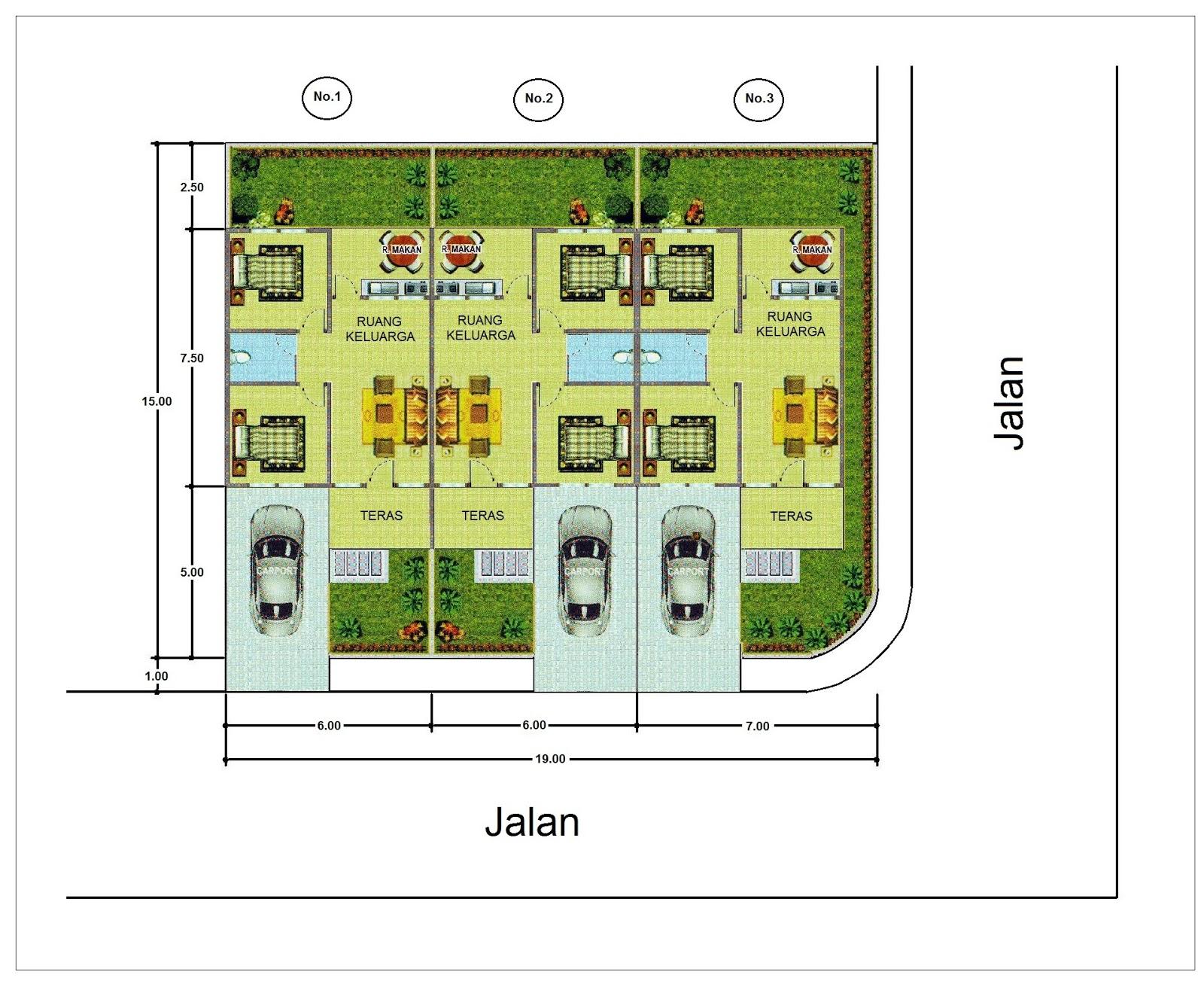 Rumah  Minimalis Type 48  6m x 15m di Medan Johor Rumah