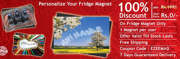 Free Personalized Fridge Magnet